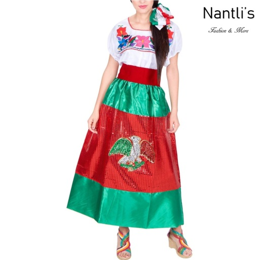 Traje tipico Mexicano Mayoreo TM74281 Vestido China poblana Mujer Women Dress Nantlis Tradicion de Mexico