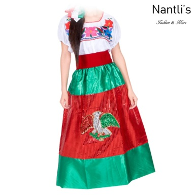 Traje tipico Mexicano Mayoreo TM74315 Vestido China poblana nina Girls Dress Nantlis Tradicion de Mexico