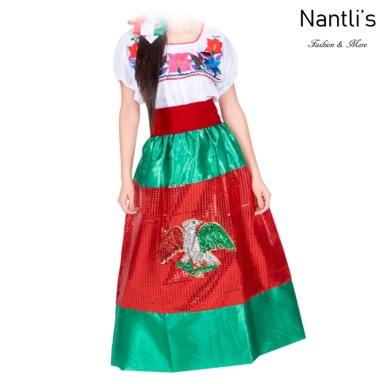Traje tipico Mexicano Mayoreo TM74315 Vestido China poblana nina Girls Dress Nantlis Tradicion de Mexico