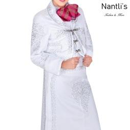 Traje de Charro Mayoreo TM76104 White-Silver Traje de Charro completo mujer Nantlis Tradicion de Mexico