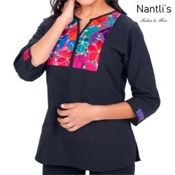 Blusa Bordada Mayoreo TM77218 Black Blusa Bordada Mujer Mexican Embroidered Blouse Nantlis Tradicion de Mexico
