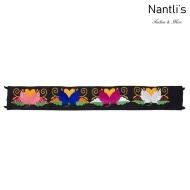 Cinturon Bordado Mayoreo TM78052 Black Cinturon Bordado Mexicano de Mujer Mexican Embroidered Belt for women Nantlis Tradicion de Mexico