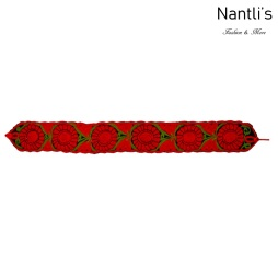 Cinturon Bordado Mayoreo TM78055 Red Cinturon Bordado Mexicano de Mujer Mexican Embroidered Belt for women Nantlis Tradicion de Mexico