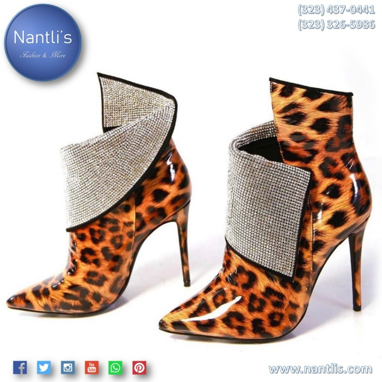 Botas para Mujer por Mayoreo / Wholesale Womens Boots Leopard Booties