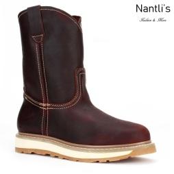 BA112 Burgundy Botas de Trabajo Mayoreo Wholesale Work Boots Nantlis