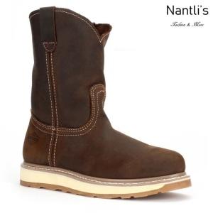 BA112 Crazy Brown Botas de Trabajo Mayoreo Wholesale Work Boots Nantlis