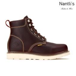 BA632 Burgundy Botas de Trabajo Mayoreo Wholesale Work Boots Nantlis