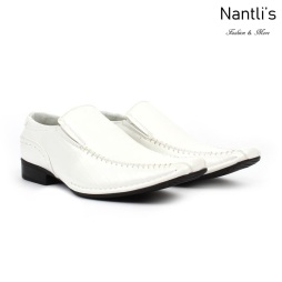 BE-G219 White Zapatos por Mayoreo Wholesale Mens shoes Nantlis Bonafini Shoes