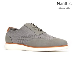 JX-C1909 Grey Zapatos por Mayoreo Wholesale mens shoes Nantlis Jaxson Shoes