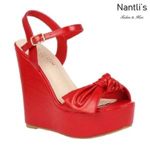 BL-Dalia-12 Red Zapatos de Mujer Mayoreo Wholesale Women Shoes Wedges Nantlis