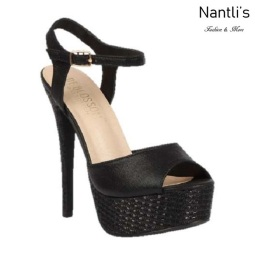BL-Flora-11 Black Zapatos de Mujer Mayoreo Wholesale Women Heels Shoes Nantlis