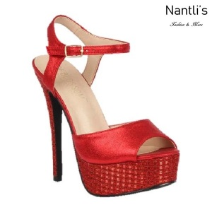 BL-Flora-11 Red Zapatos de Mujer Mayoreo Wholesale Women Heels Shoes Nantlis
