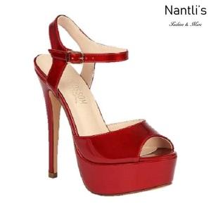 BL-Flora-12 Red Zapatos de Mujer Mayoreo Wholesale Women Heels Shoes Nantlis