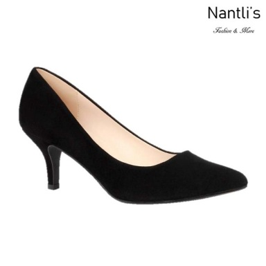 BL-Hurley-s23 Black Suede Zapatos de Mujer Mayoreo Wholesale Women Heels Shoes Nantlis