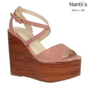 BL-Iris-11 Coral Zapatos de Mujer Mayoreo Wholesale Women Shoes Wedges Nantlis