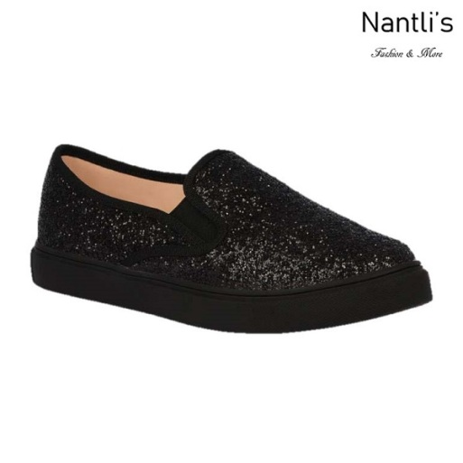 BL-K-Asuka-1 Black Zapatos de nina Mayoreo Wholesale Girls sneakers kids Shoes Nantlis