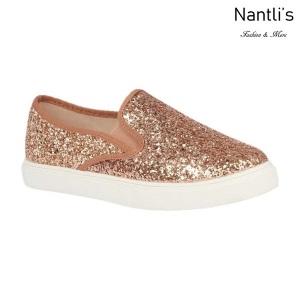 BL-K-Asuka-1 Rose Gold Zapatos de nina Mayoreo Wholesale Girls sneakers kids Shoes Nantlis