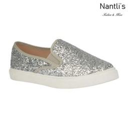 BL-K-Asuka-1 Silver Zapatos de nina Mayoreo Wholesale Girls sneakers kids Shoes Nantlis