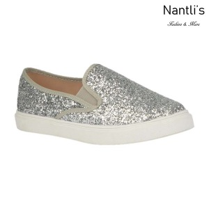 BL-K-Asuka-1 Silver Zapatos de nina Mayoreo Wholesale Girls sneakers kids Shoes Nantlis