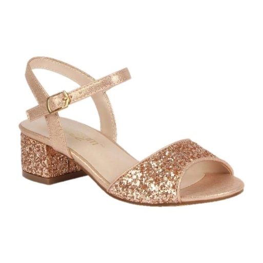 BL-K-Brenda-8 Rose Gold Zapatos de niña Mayoreo Wholesale girls heels Kids dress Shoes Nantlis