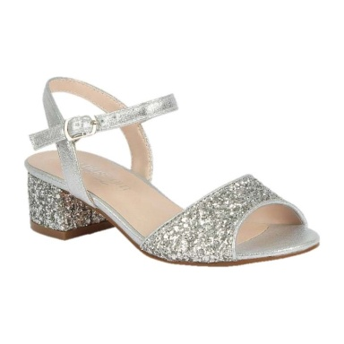 BL-K-Brenda-8 Silver Zapatos de niña Mayoreo Wholesale girls heels Kids dress Shoes Nantlis