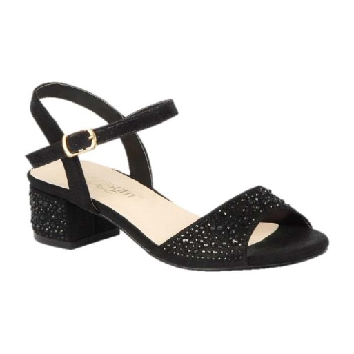 BL-K-Brenda-9 Black Zapatos de niña Mayoreo Wholesale girls heels Kids dress Shoes Nantlis