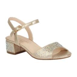 BL-K-Brenda-9 Champagne Zapatos de niña Mayoreo Wholesale girls heels Kids dress Shoes Nantlis