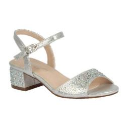 BL-K-Brenda-9 Silver Zapatos de niña Mayoreo Wholesale girls heels Kids dress Shoes Nantlis