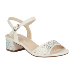 BL-K-Brenda-9 White Zapatos de niña Mayoreo Wholesale girls heels Kids dress Shoes Nantlis