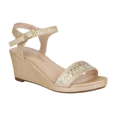 BL-K-Christy-43 Nude Zapatos de niña Mayoreo Wholesale Girls Wedges Kids Shoes Nantlis