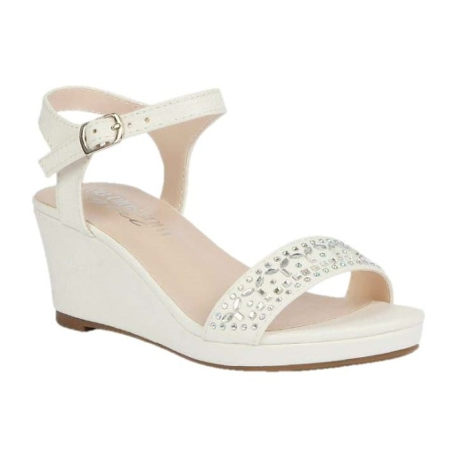 BL-K-Christy-43 White Zapatos de niña Mayoreo Wholesale Girls Wedges Kids Shoes Nantlis