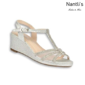 BL-K-Christy-44 Silver Zapatos de niña Mayoreo Wholesale Girls Wedges Kids Shoes Nantlis