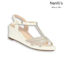 BL-K-Christy-44 White Zapatos de niña Mayoreo Wholesale Girls Wedges Kids Shoes Nantlis