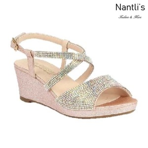 BL-K-Christy-46 Blush Zapatos de niña Mayoreo Wholesale Girls Wedges Kids Shoes Nantlis