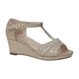 BL-K-Christy-7 Nude Zapatos de niña Mayoreo Wholesale Girls Wedges Kids Shoes Nantlis