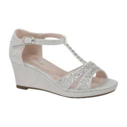 BL-K-Christy-7 White Zapatos de niña Mayoreo Wholesale Girls Wedges Kids Shoes Nantlis