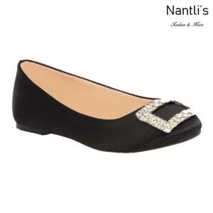 BL-K-Gigi-12 Black Zapatos de niña Mayoreo Wholesale girls flats Kids dress Shoes Nantlis