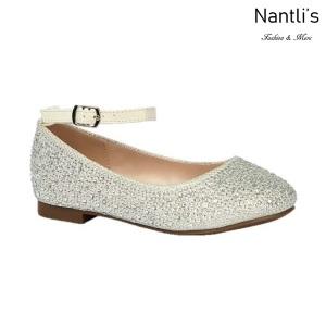 BL-K-Harper-1 White Zapatos de niña Mayoreo Wholesale girls flats Kids dress Shoes Nantlis