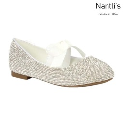 BL-K-Harper-28 White Zapatos de niña Mayoreo Wholesale girls flats Kids dress Shoes Nantlis