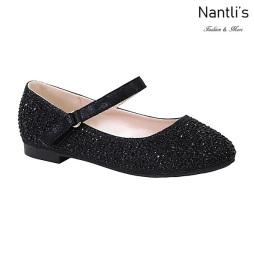 BL-K-Harper-32 Black Zapatos de niña Mayoreo Wholesale girls flats Kids dress Shoes Nantlis