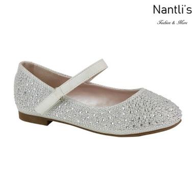 BL-K-Harper-32 White Zapatos de niña Mayoreo Wholesale girls flats Kids dress Shoes Nantlis