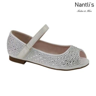 BL-K-Harper-35 White Zapatos de niña Mayoreo Wholesale girls flats Kids dress Shoes Nantlis