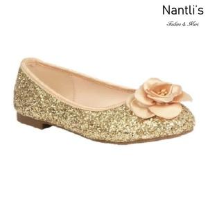BL-K-Harper-48 gold Zapatos de niña Mayoreo Wholesale girls flats Kids dress Shoes Nantlis
