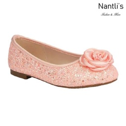 BL-K-Harper-48 Pink Zapatos de niña Mayoreo Wholesale girls flats Kids dress Shoes Nantlis