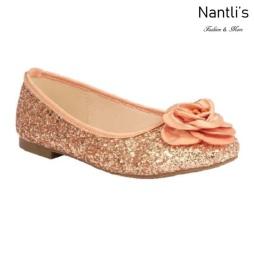 BL-K-Harper-48 Rose Gold Zapatos de niña Mayoreo Wholesale girls flats Kids dress Shoes Nantlis
