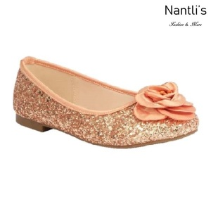 BL-K-Harper-48 Rose Gold Zapatos de niña Mayoreo Wholesale girls flats Kids dress Shoes Nantlis