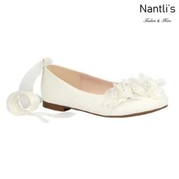 BL-K-Harper-50 White Zapatos de niña Mayoreo Wholesale girls flats Kids dress Shoes Nantlis