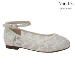 BL-K-Harper-78 Ivory Zapatos de niña Mayoreo Wholesale girls flats Kids dress Shoes Nantlis