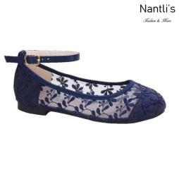 BL-K-Harper-78 Navy Zapatos de niña Mayoreo Wholesale girls flats Kids dress Shoes Nantlis