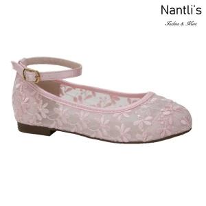 BL-K-Harper-78 Pink Zapatos de niña Mayoreo Wholesale girls flats Kids dress Shoes Nantlis